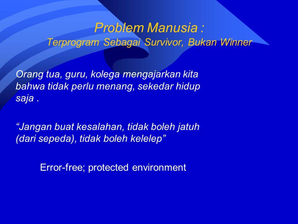 Problem Manusia : Terprogram Sebagai Survivor, Bukan Winner