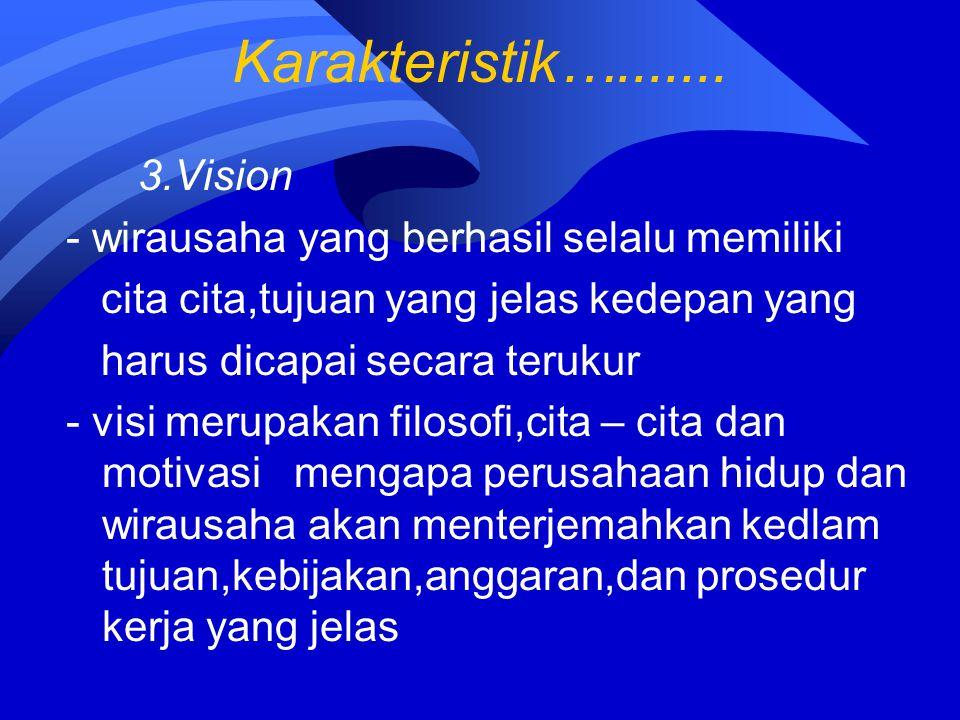 Karakteristik…....... 3.Vision