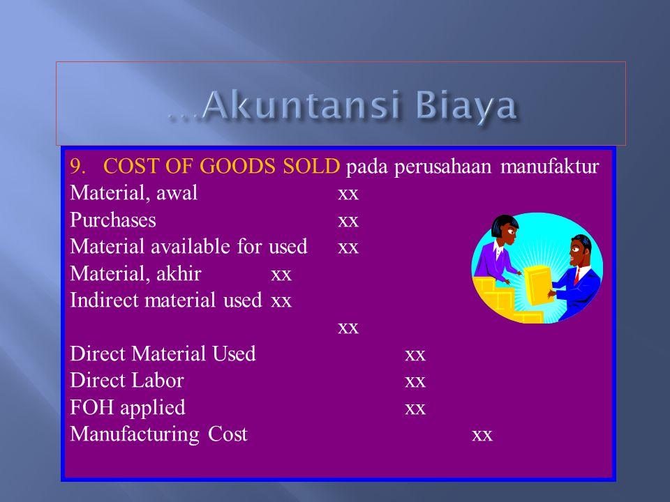 …Akuntansi Biaya COST OF GOODS SOLD pada perusahaan manufaktur