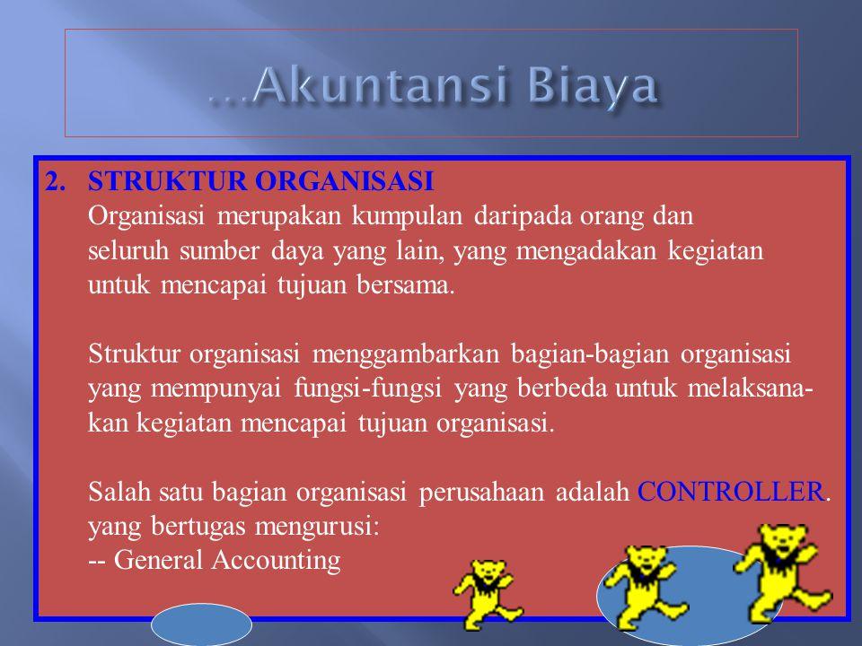 …Akuntansi Biaya STRUKTUR ORGANISASI