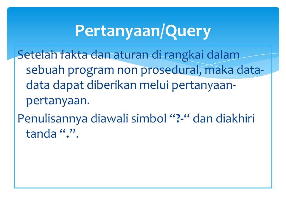 Pertanyaan/Query