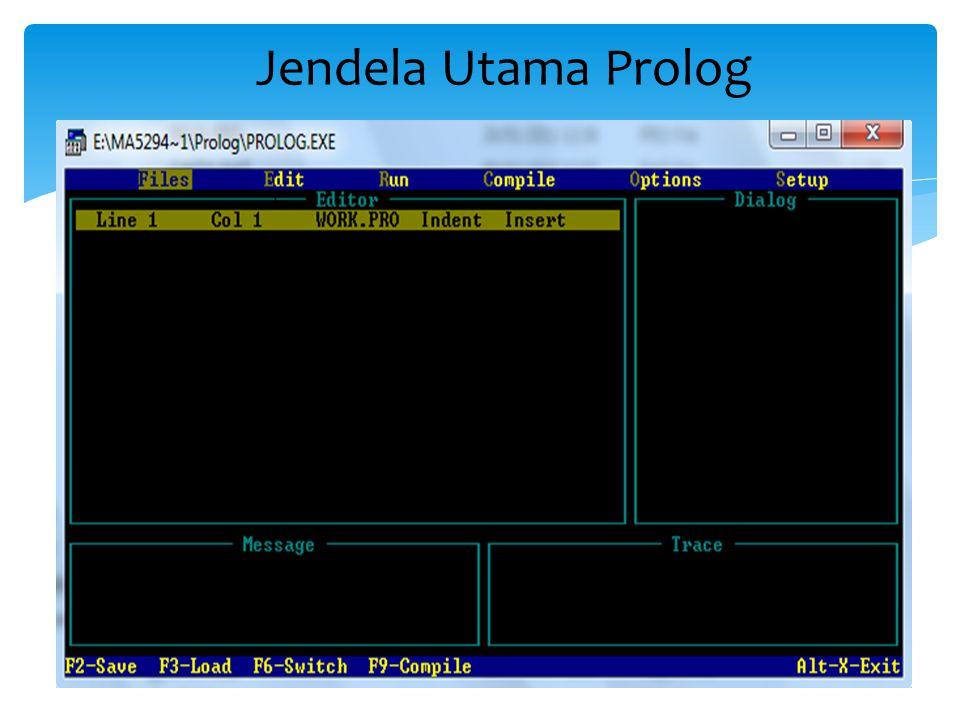Jendela Utama Prolog