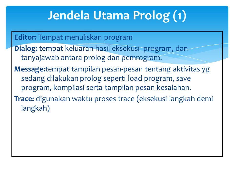 Jendela Utama Prolog (1)