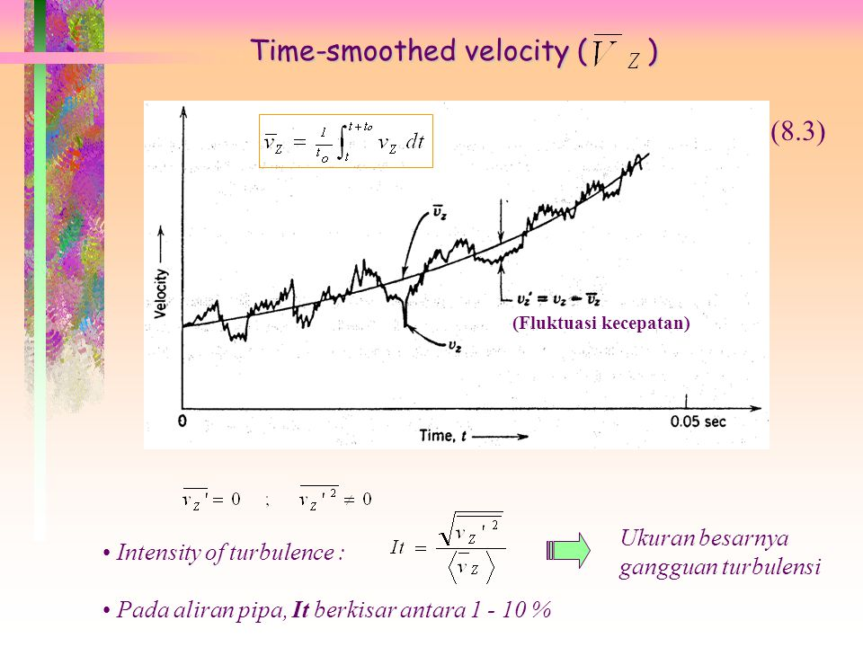 Time-smoothed velocity ( )