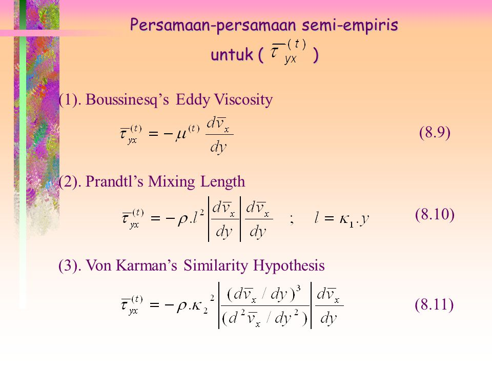 Persamaan-persamaan semi-empiris