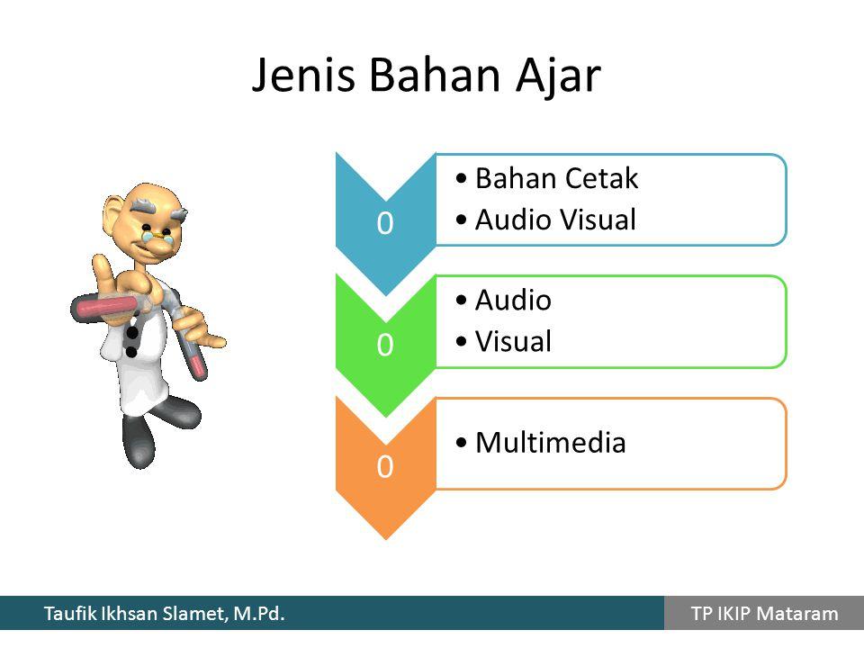 Jenis Bahan Ajar Bahan Cetak Audio Visual Audio Visual Multimedia