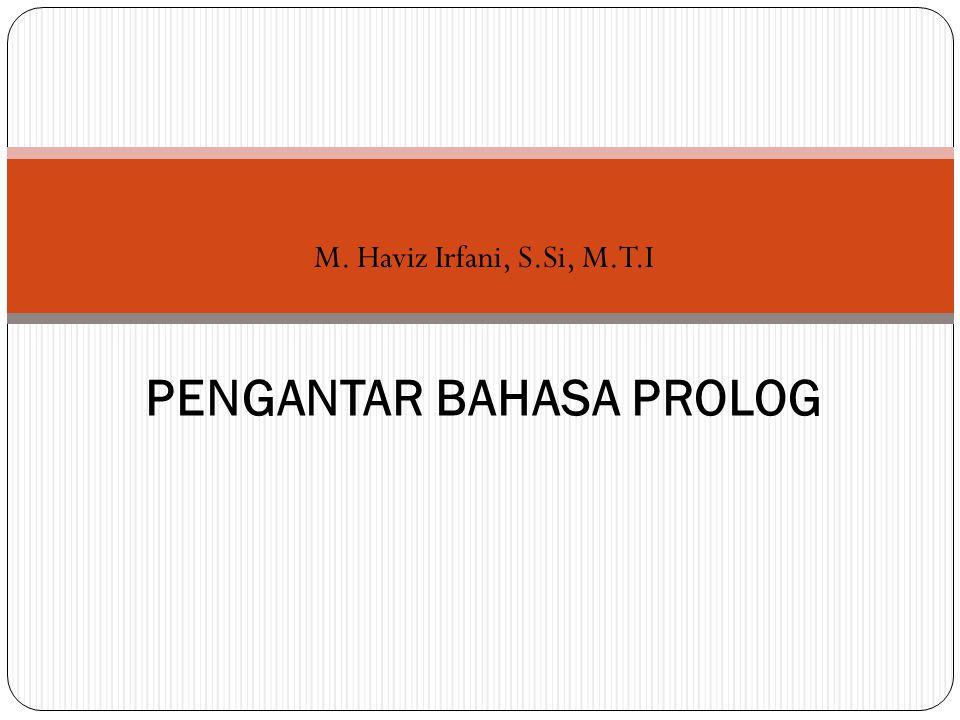 PENGANTAR BAHASA PROLOG