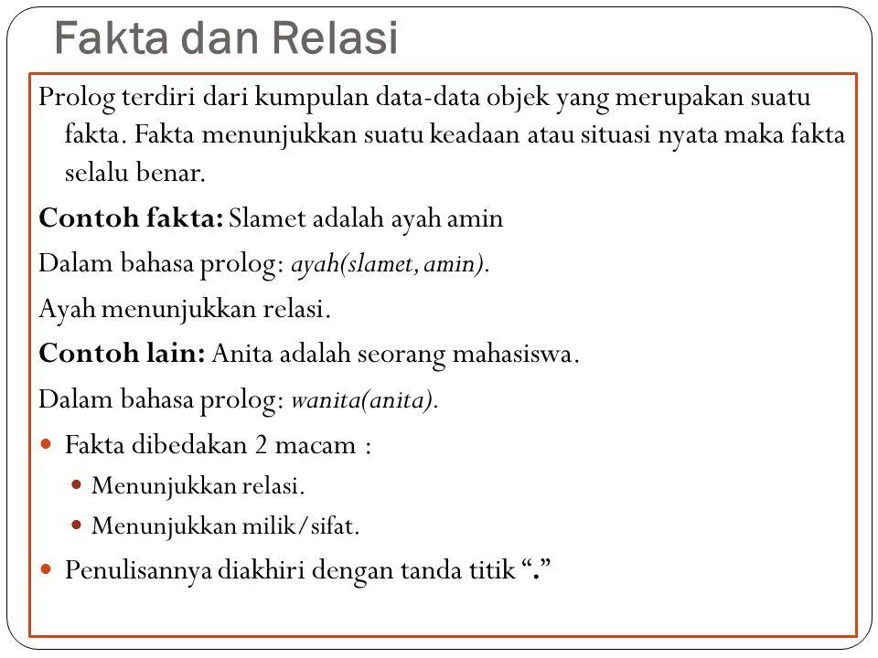 Fakta dan Relasi