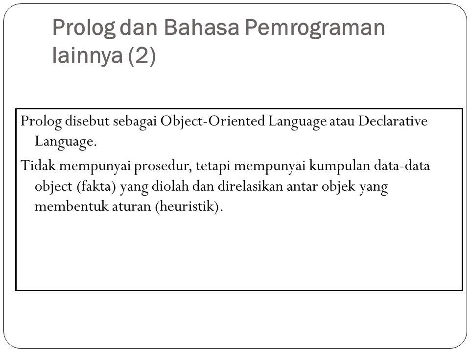Prolog dan Bahasa Pemrograman lainnya (2)
