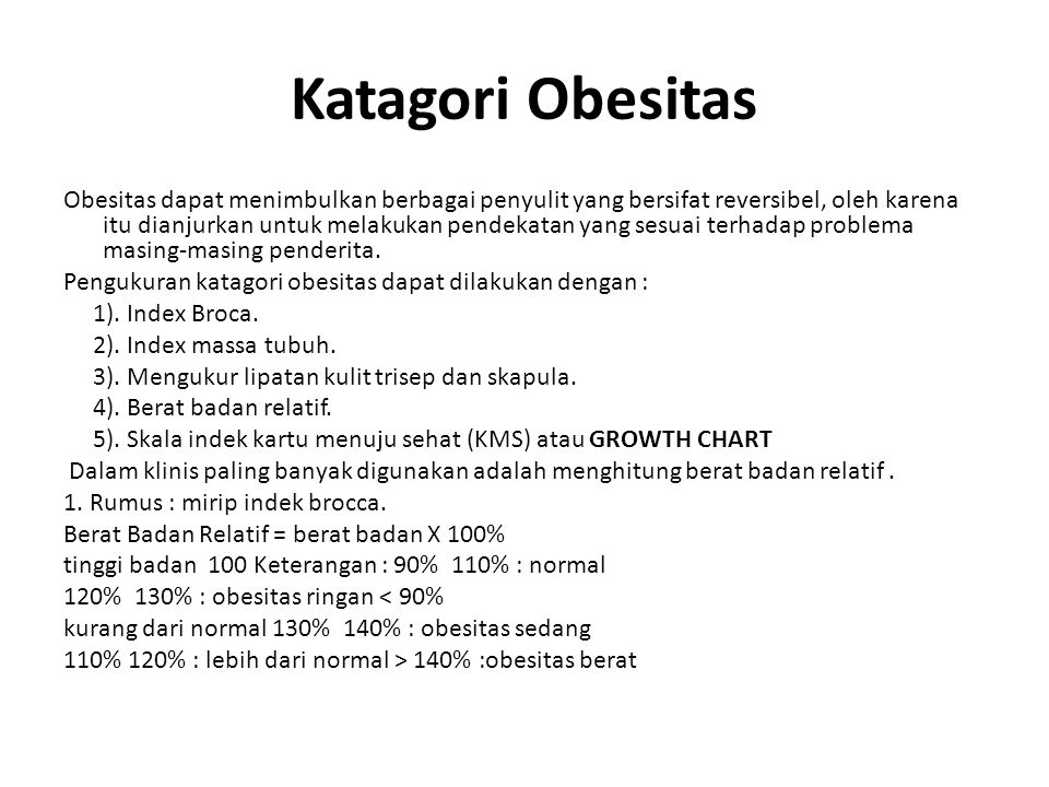 Katagori Obesitas