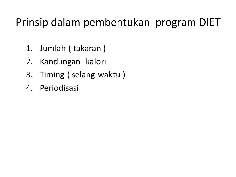 Prinsip dalam pembentukan program DIET