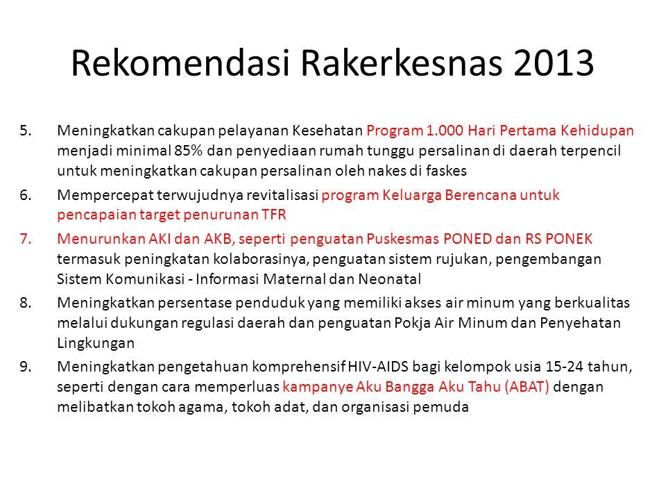 Rekomendasi Rakerkesnas 2013