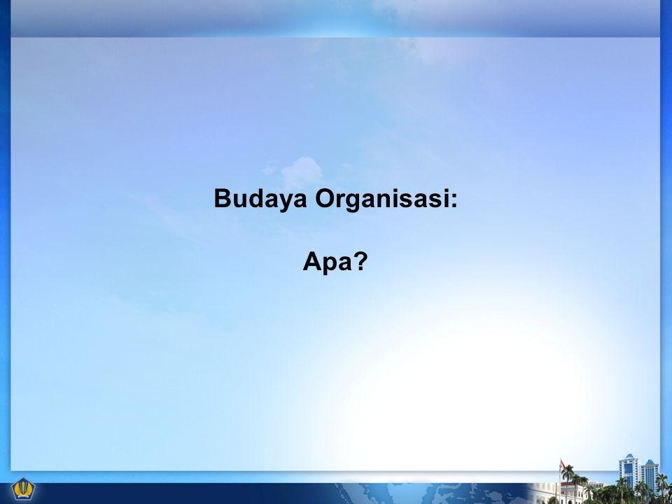 Budaya Organisasi: Apa