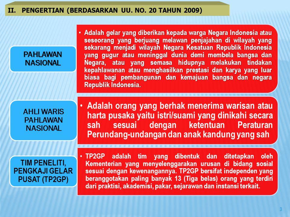 II. PENGERTIAN (BERDASARKAN UU. NO. 20 TAHUN 2009)