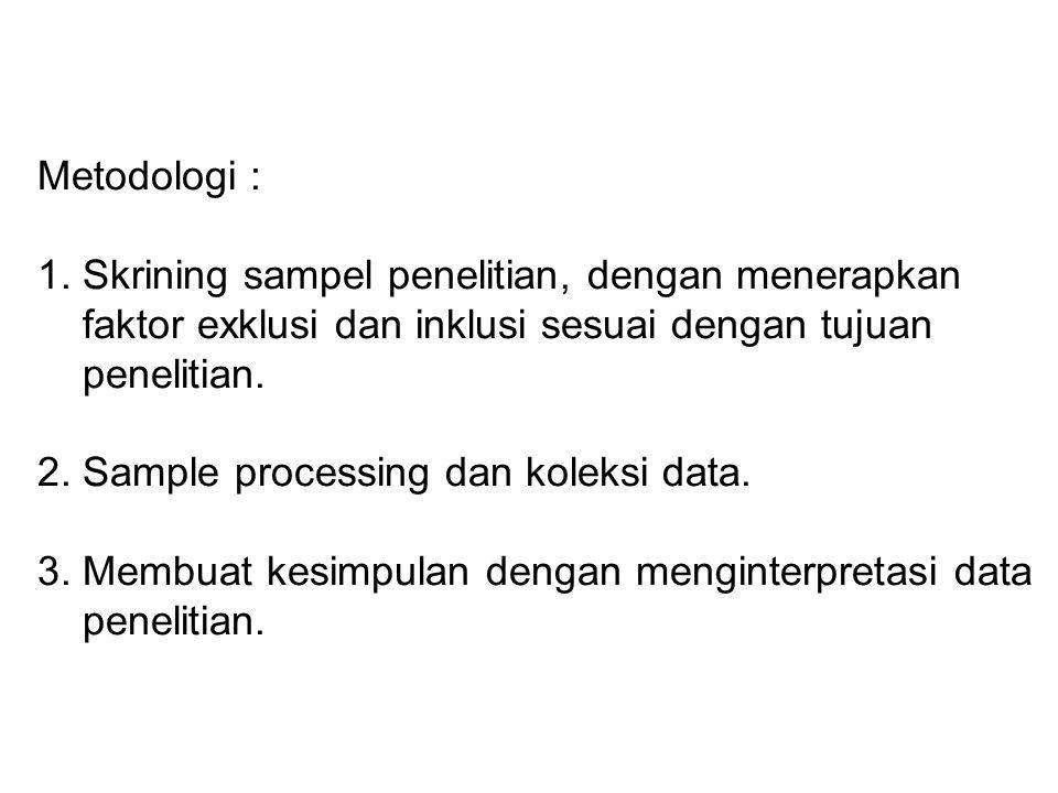 Metodologi : 1.