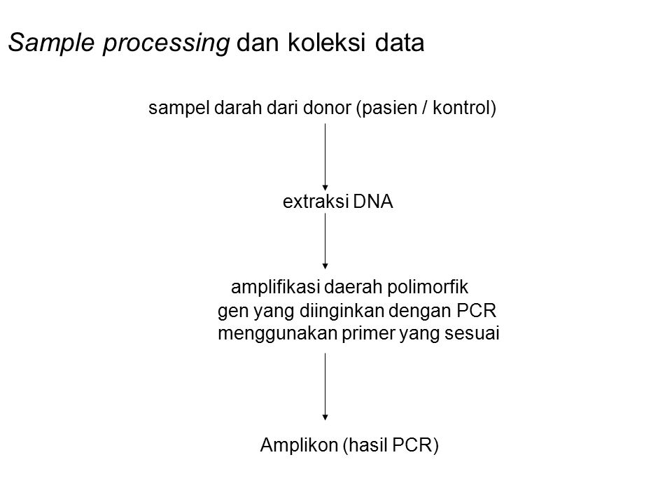 Sample processing dan koleksi data