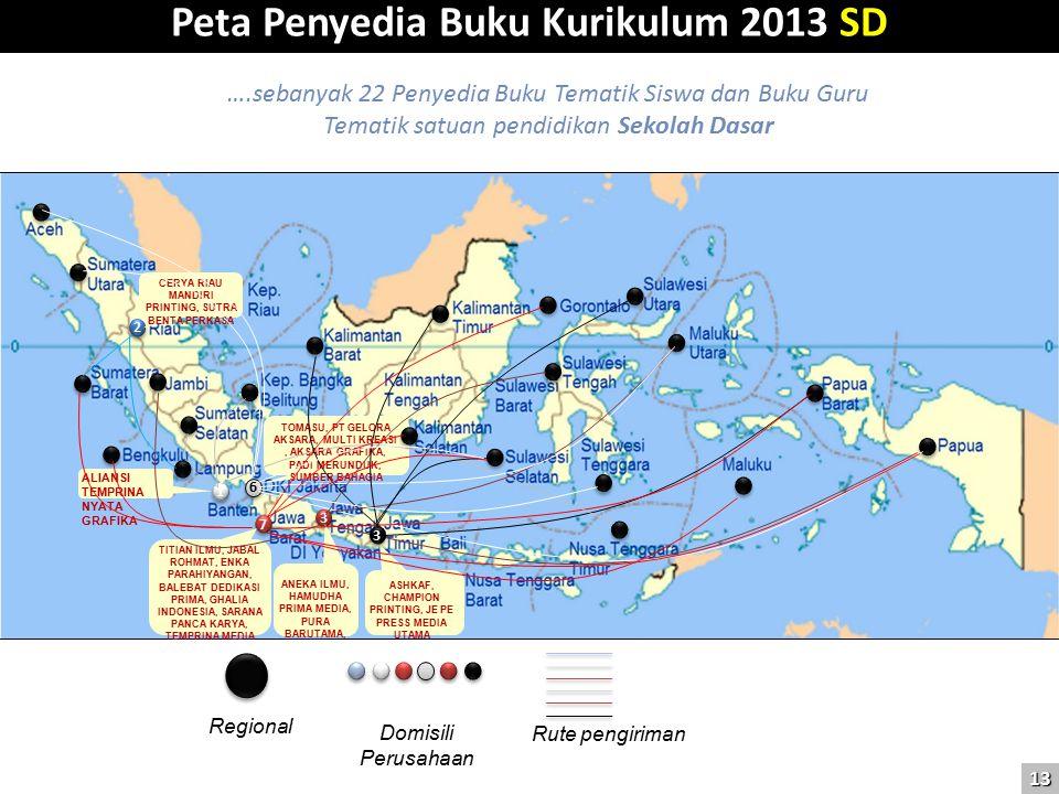 Peta Penyedia Buku Kurikulum 2013 SD