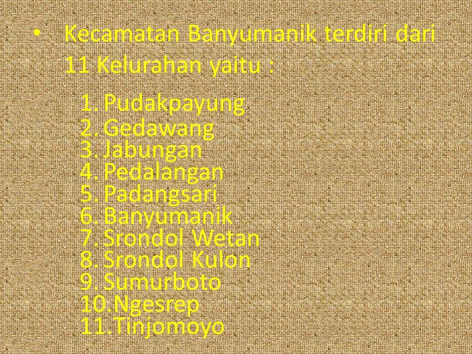 Kecamatan Banyumanik terdiri dari 11 Kelurahan yaitu :