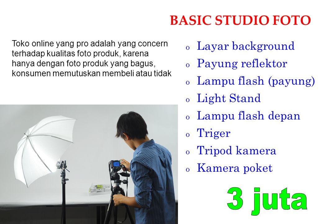 3 juta BASIC STUDIO FOTO Layar background Payung reflektor
