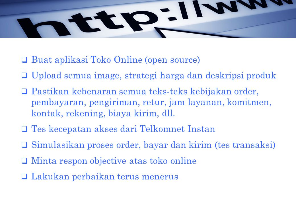 Buat aplikasi Toko Online (open source)