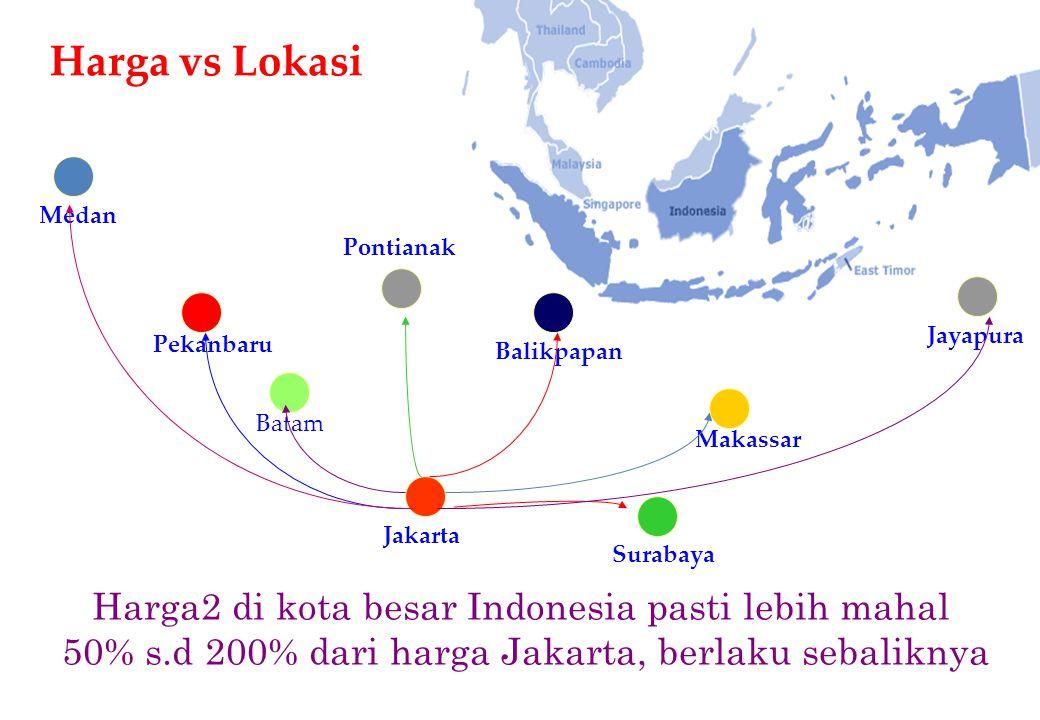 Harga vs Lokasi Harga2 di kota besar Indonesia pasti lebih mahal