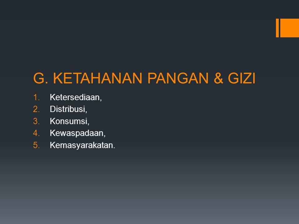 G. KETAHANAN PANGAN & GIZI