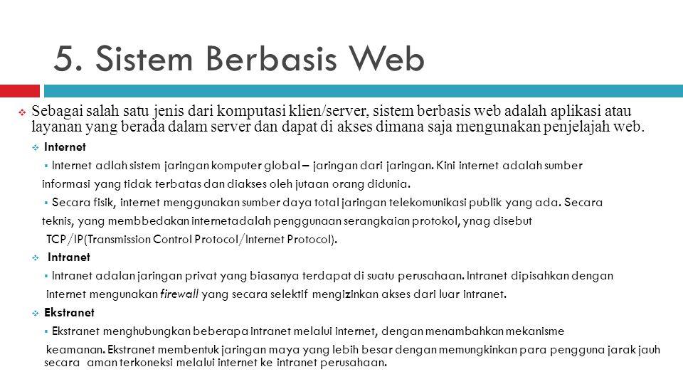 5. Sistem Berbasis Web