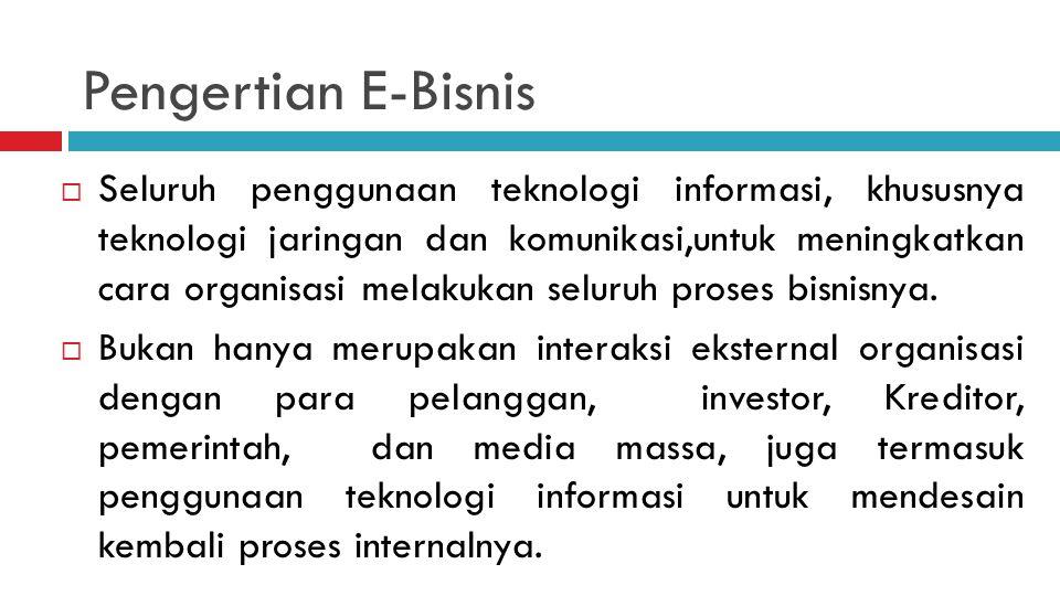 Pengertian E-Bisnis