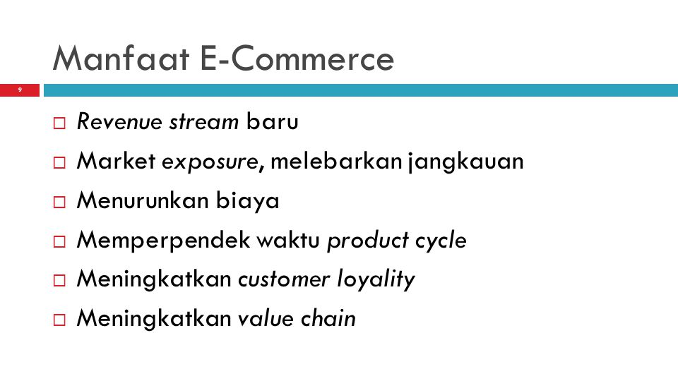 Manfaat E-Commerce Revenue stream baru