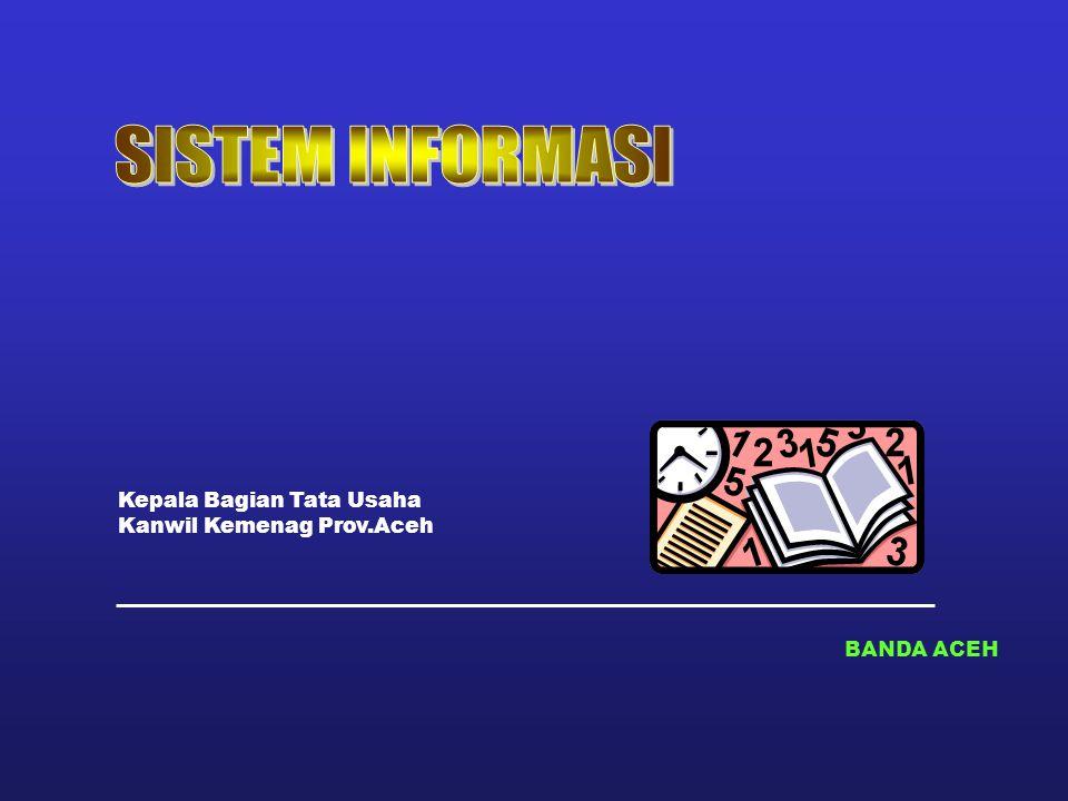 SISTEM INFORMASI Kepala Bagian Tata Usaha Kanwil Kemenag Prov.Aceh