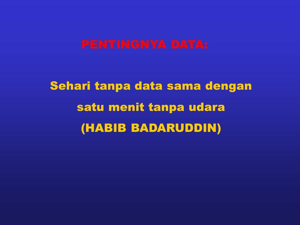Sehari tanpa data sama dengan satu menit tanpa udara