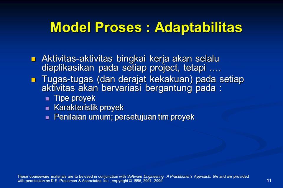 Model Proses : Adaptabilitas