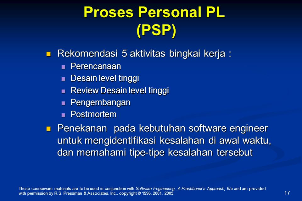 Proses Personal PL (PSP)
