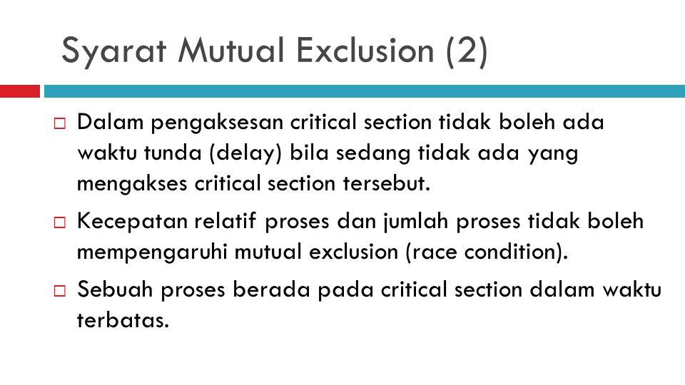 Syarat Mutual Exclusion (2)