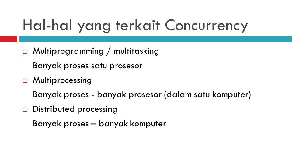 Hal-hal yang terkait Concurrency
