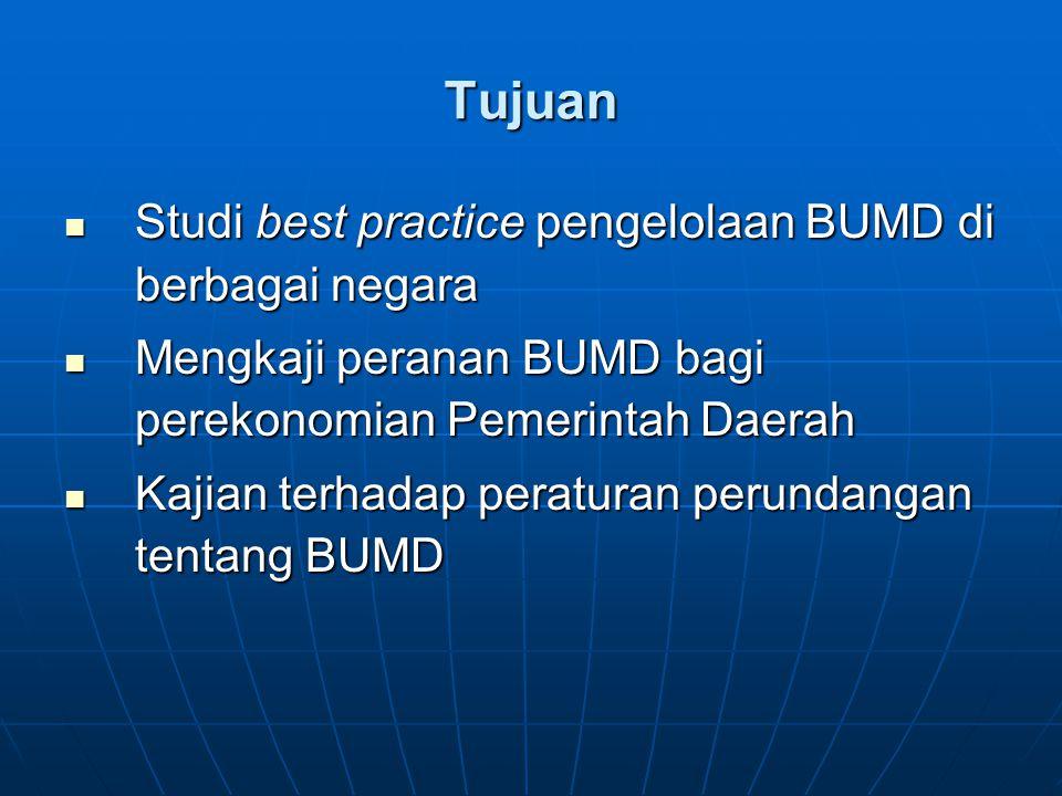Tujuan Studi best practice pengelolaan BUMD di berbagai negara