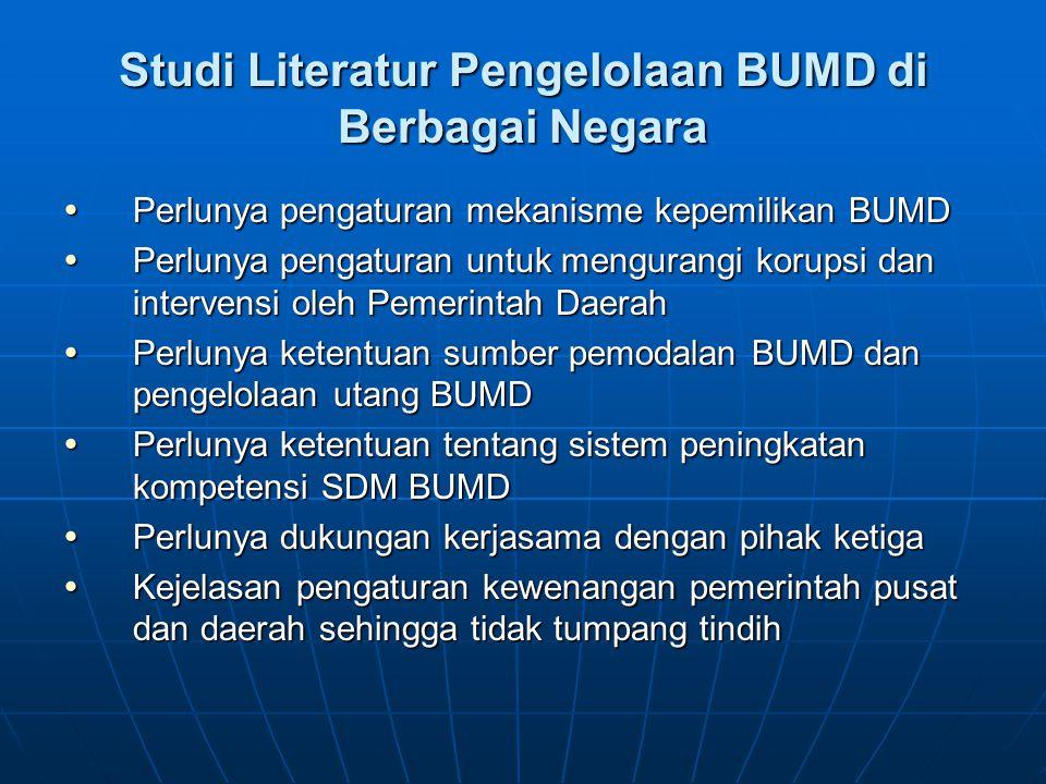 Studi Literatur Pengelolaan BUMD di Berbagai Negara