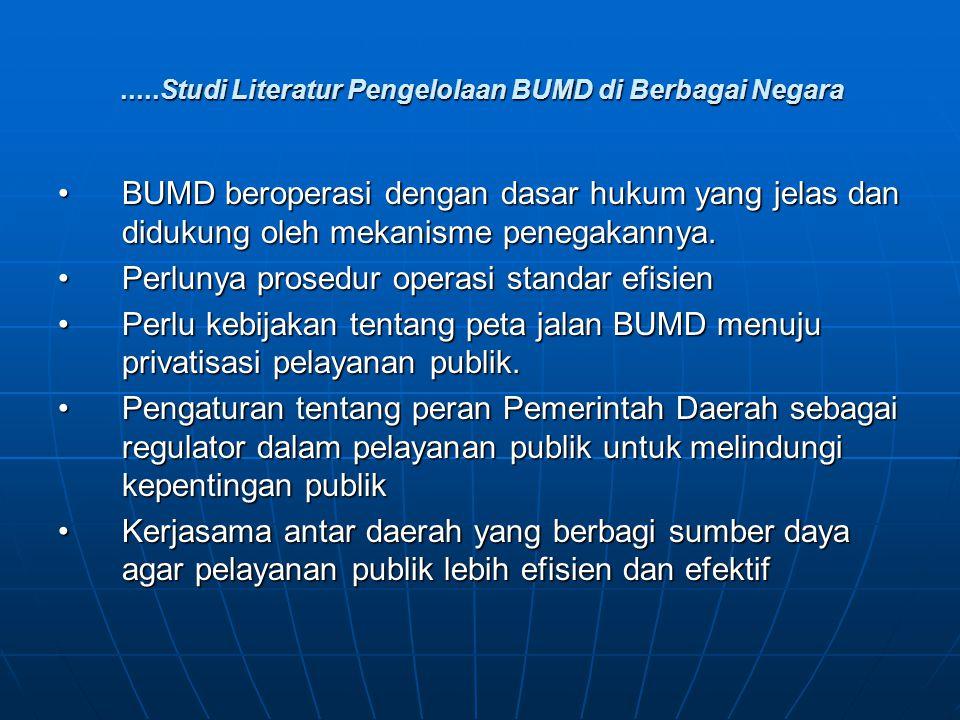 .....Studi Literatur Pengelolaan BUMD di Berbagai Negara