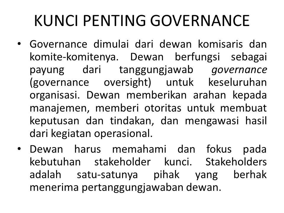 KUNCI PENTING GOVERNANCE