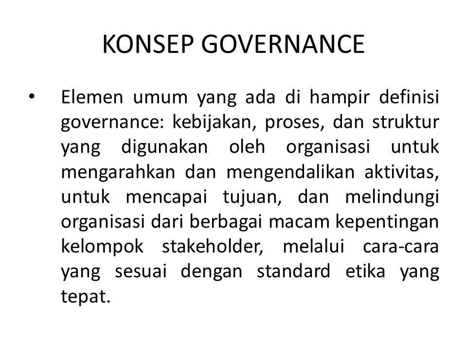 KONSEP GOVERNANCE