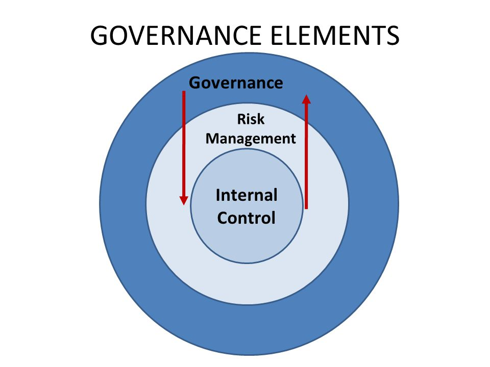 GOVERNANCE ELEMENTS Governance Risk Management Internal Control