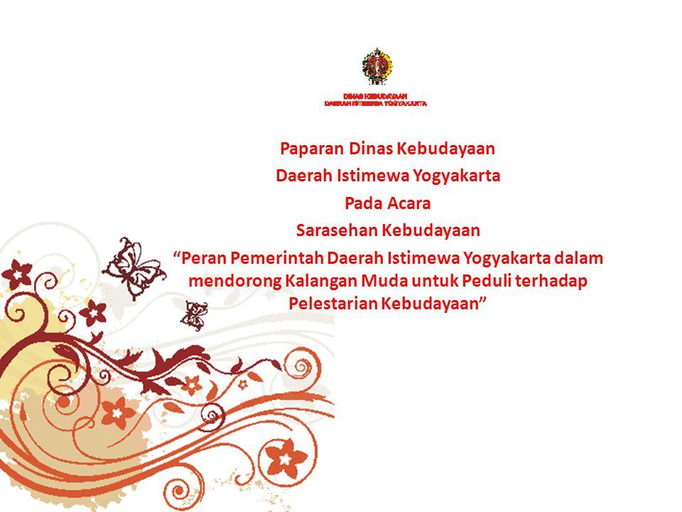 Paparan Dinas Kebudayaan Daerah Istimewa Yogyakarta