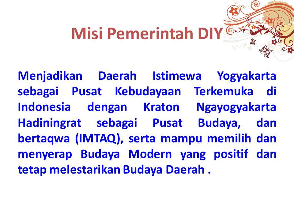 Misi Pemerintah DIY