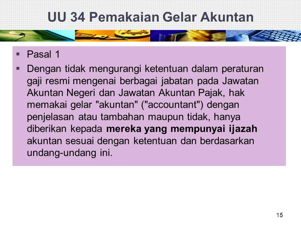 UU 34 Pemakaian Gelar Akuntan