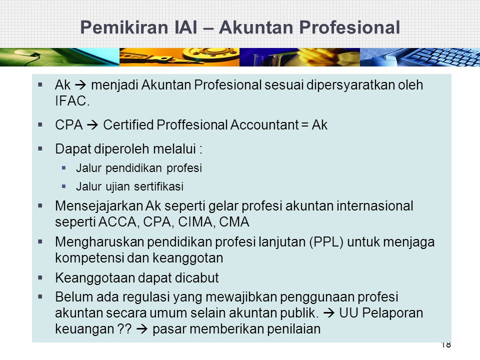 Pemikiran IAI – Akuntan Profesional