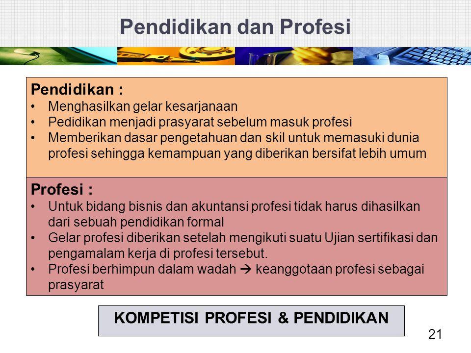 Pendidikan dan Profesi