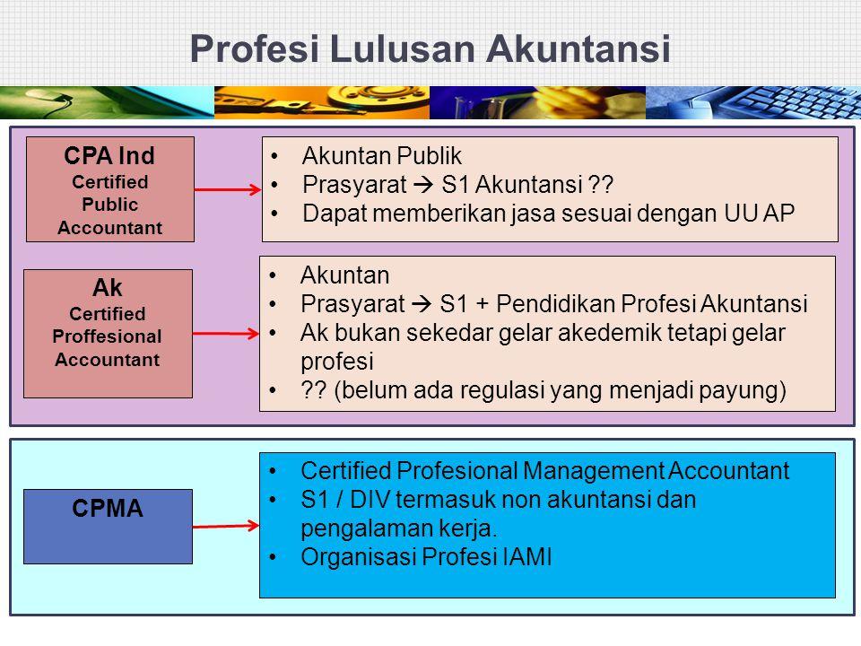 Profesi Lulusan Akuntansi