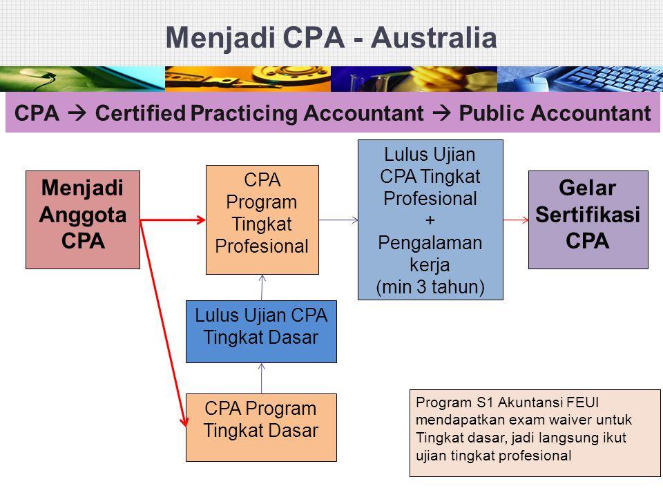 Menjadi CPA - Australia