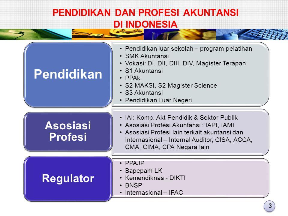 PENDIDIKAN DAN PROFESI AKUNTANSI di INDONESIA