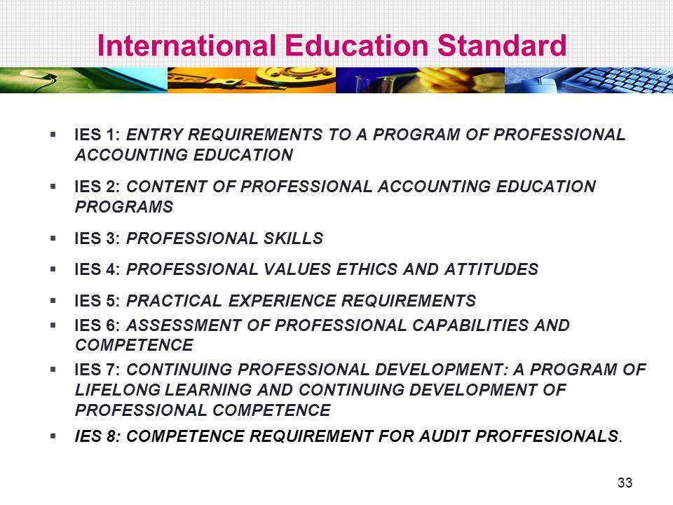 International Education Standard